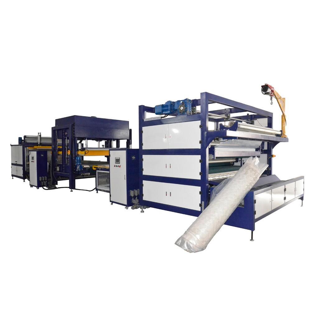 NAIGU automated mattress rolling machine high efficiency for latex mattresses