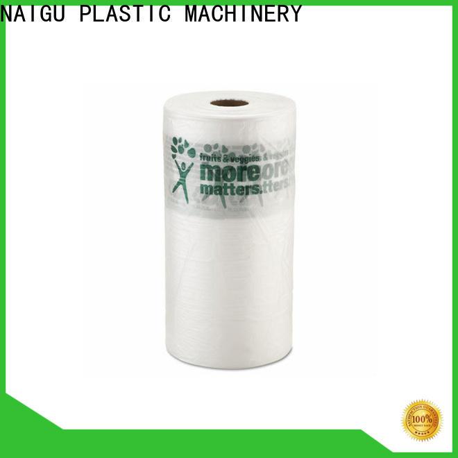 NAIGU custom clear plastic bags pre-opened for household