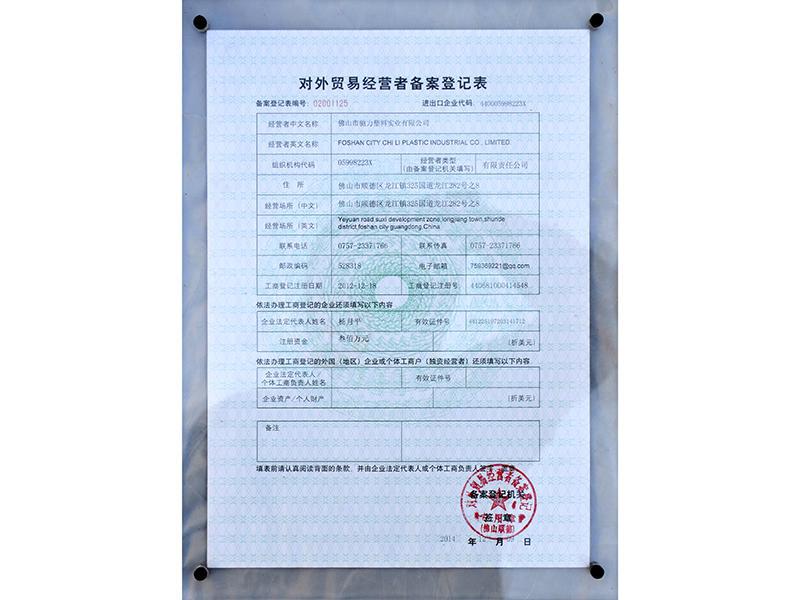 Foreign Trade Operator Registration Form