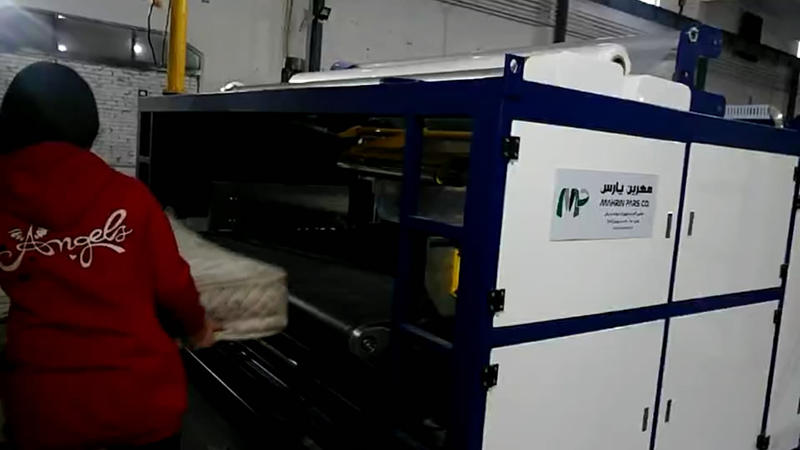 NG-51M Automatic mattress plastic film packing machine