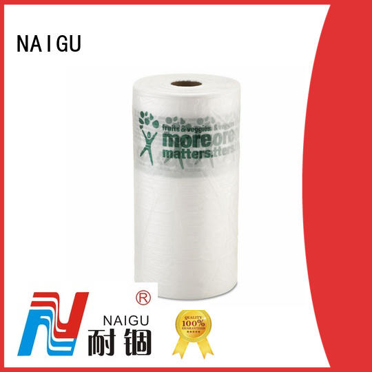 NAIGU popular Plastic bag roll factory price for wrapping